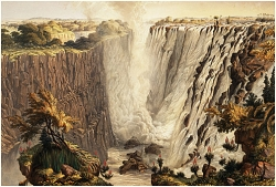 236B_The Falls from the East End of the Chasm by Thomas Baines-July1862