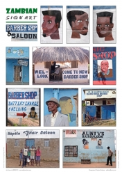 950_Zambian Sign Art Posters_Set of 3_Barbershop & Saloon
