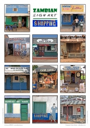 951_Zambian Sign Art Posters_Set of 3_Shopping